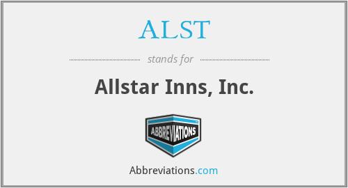 ALST - Allstar Inns, Inc.