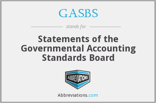 What does GASBS stand for?
