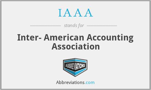 IAAA - Inter- American Accounting Association
