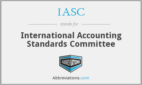 IASC - International Accounting Standards Committee