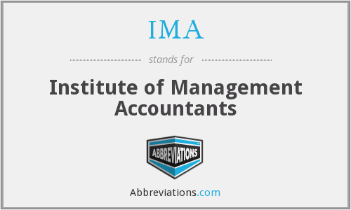 IMA - Institute of Management Accountants