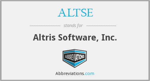 What does ALTSE stand for?