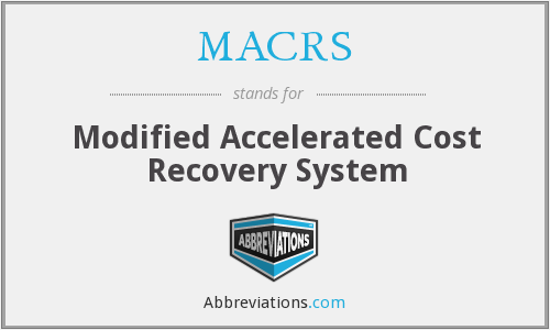 MACRS - Modified Accelerated Cost Recovery System