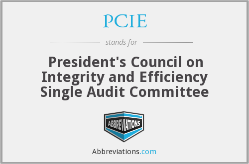 PCIE - President's Council on Integrity and Efficiency Single Audit Committee
