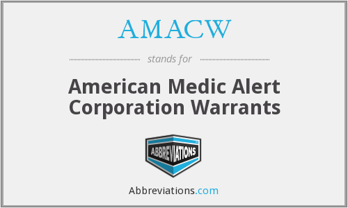 What does AMACW stand for?