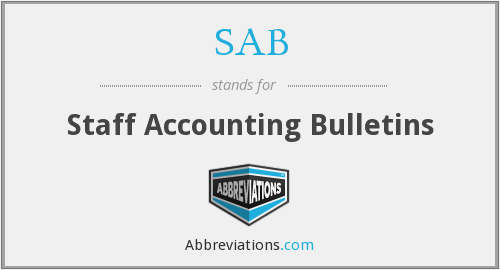 SAB - Staff Accounting Bulletins
