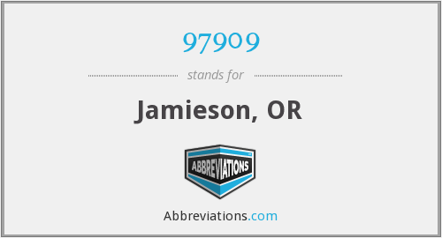 97909 - Jamieson, OR
