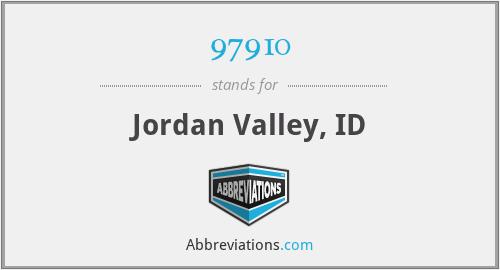 97910 - Jordan Valley, ID