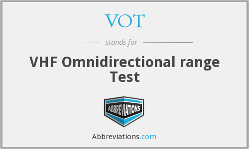 VOT - VHF Omnidirectional range Test