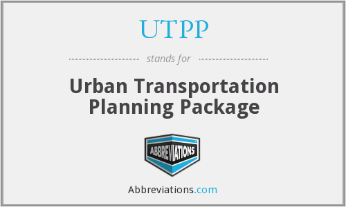 UTPP - Urban Transportation Planning Package