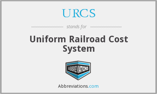 URCS - Uniform Railroad Cost System