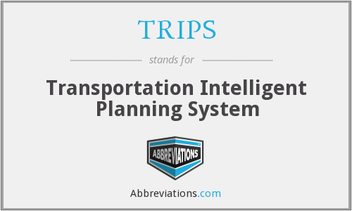 TRIPS - Transportation Intelligent Planning System
