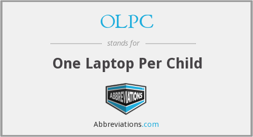 What does OLPC stand for?