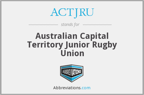ACTJRU - Australian Capital Territory Junior Rugby Union