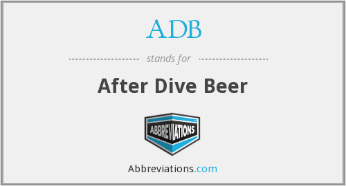 ADB - After Dive Beer