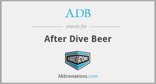 ADB - After Dive Beer