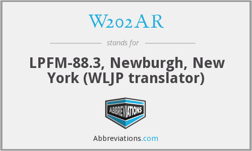 W202AR - LPFM-88.3, Newburgh, New York (WLJP translator)