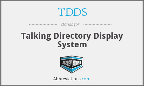 What does TDDS stand for?