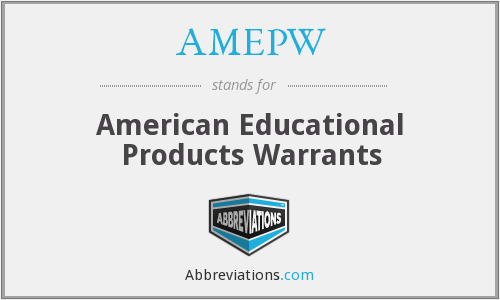 What does AMEPW stand for?