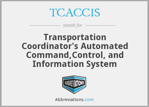 TCACCIS - Transportation Coordinator's Automated Command,Control, and Information System