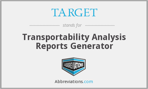 TARGET - Transportability Analysis Reports Generator