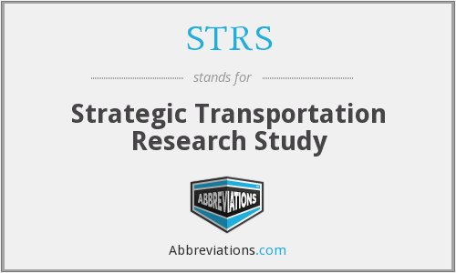 STRS - Strategic Transportation Research Study