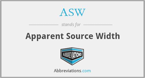 ASW - Apparent Source Width