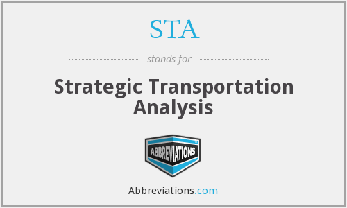 STA - Strategic Transportation Analysis