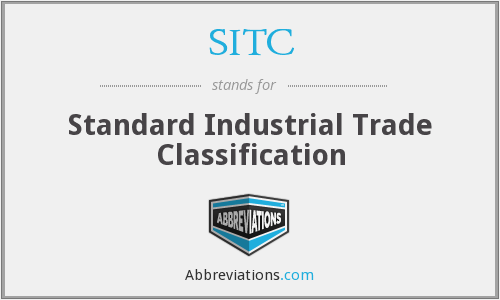 SITC - Standard Industrial Trade Classification