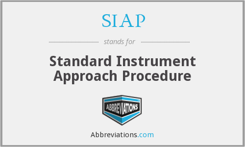 SIAP - Standard Instrument Approach Procedure