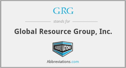 GRG - Global Resource Group, Inc.