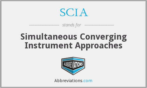 SCIA - Simultaneous Converging Instrument Approaches
