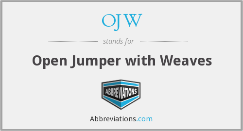 OJW - Open Jumper with Weaves