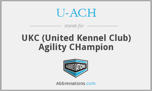 U-ACH - UKC (United Kennel Club) Agility CHampion