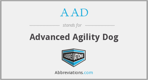 AAD - Advanced Agility Dog