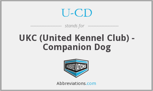 U-CD - UKC (United Kennel Club) - Companion Dog