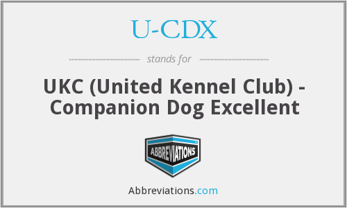 U-CDX - UKC (United Kennel Club) - Companion Dog Excellent