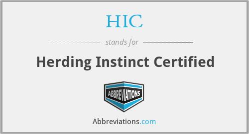 HIC - Herding Instinct Certified