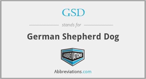 GSD - German Shepherd Dog