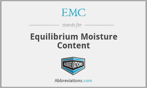EMC - Equilibrium Moisture Content