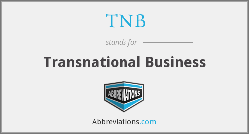 TNB - Transnational Business