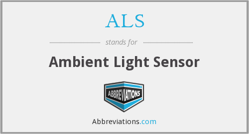 ALS - Ambient Light Sensor