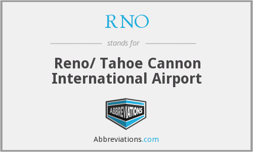 RNO - Reno/ Tahoe Cannon International Airport