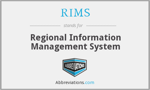 RIMS - Regional Information Management System