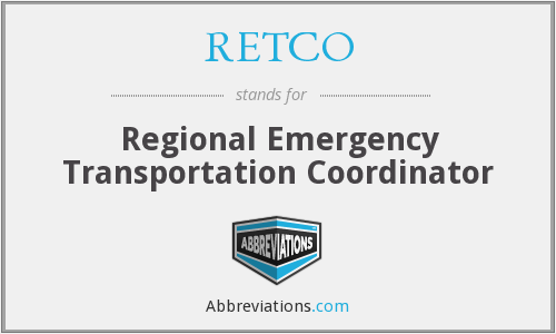 What does RETCO stand for?