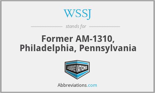 WSSJ - Former AM-1310, Philadelphia, Pennsylvania