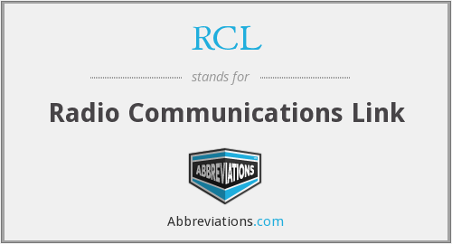 RCL - Radio Communications Link