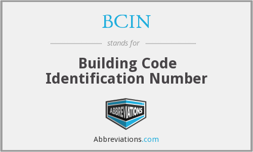BCIN - Building Code Identification Number