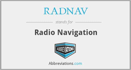 RADNAV - Radio Navigation
