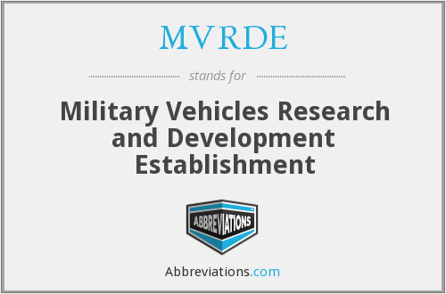 What does MVRDE stand for?